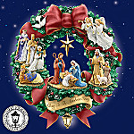 Thomas Kinkade Nativity Wreath