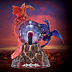 Fire And Brimstone Plasma Ball Dragon Figurine