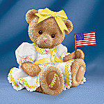 Support Our Troops Teddy Bear Figurine