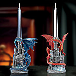 Realm Of Fire Dragon Candleholders