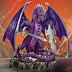 Collectible Purple Dragon Figurine: Defender Of Ancient Treasure