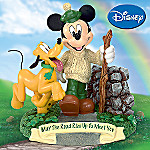Disney Mickey Mouse Figurine: May The Road Rise Up To Meet You Irish Collectible