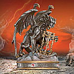Collectible Gargoyle Art Figurine: Guardian Of Time Medieval Art Sculpture