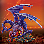 Collectible Purple Mother And Baby Dragon Figurine: Born Of Fire's Fury