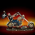 Death Rider Skeleton Biker On Motorcycle Figurine