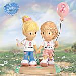 Precious Moments Friends For Life Breast Cancer Awareness Figurine