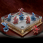 Collectible Dueling Dragons Red And Blue Dragon Tic-Tac-Toe Board Game