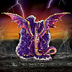 Amethyst Lair Collectible Purple Dragon Figurine
