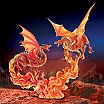 Medieval Legend Inspired Mythical Orange Dragon Figurine: Incendia