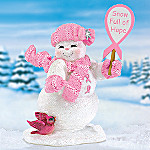 Snow Full Of Hope Breast Cancer Charity Snowman Figurine