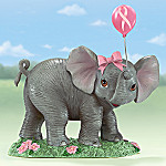 Breast Cancer Charity Collectible Elephant Figurine: Hope Is So Uplifting