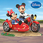 Disney Highway Sweethearts Mickey Mouse And Minnie Mouse Collectible Motorcycle Figurine
