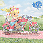 Precious Moments Hope Is On The Horizon Collectible Breast Cancer Charity Biker Figurine