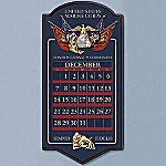 USMC Collectible Wooden Perpetual Calendar