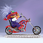 Riding With Hattitude Collectible Biker Bear Figurine