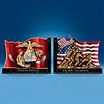 USMC Symbols Of Courage Decorative Bookends