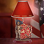 Courage Under Fire Firefighter Tribute Table Lamp