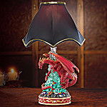 The Raging Red Dragon Collectible Lamp