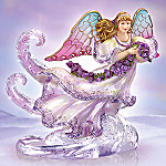 Heavenly Radiance Stained Glass Style Collectible Angel Figurine
