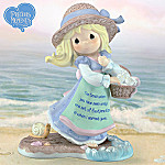 Precious Moments Lord, Be With Me Always Collectible Footprints In The Sand Figurine