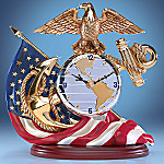 A Time For Heroes Collectible USMC Marine Tribute Clock