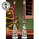 Thomas Kinkade Christmas Village Candlesticks: Unique Candle Holders