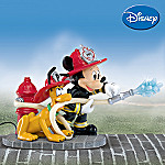 All Fired Up Mickey Mouse And Pluto Collectible Figurine