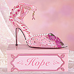 Breast Cancer Charity Collectible Shoe Figurine: Hope