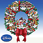 Collectible Disney Mickey & Minnie's Magical Christmas Wreath