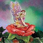 Collectible Amora Flower Fairy Figurine With Butterfly Wings