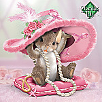 Charming Tails Collectible Hats Off To A Cure Breast Cancer Awareness Figurine Gift
