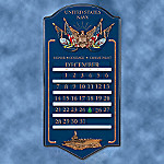 Collectible United States Navy Tribute Perpetual Calendar