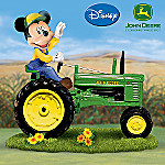 Farm Magic Mickey Mouse and John Deere Tractor Figurine