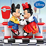 Collectible Disney Mickey & Minnie Mouse Soda Shop Sweethearts Figurine