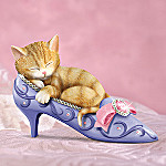 A Purr-fect Fit Collectible Kitten In Shoe Figurine
