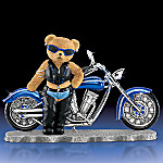 Biker Babe Teddy Bear Collectible Figurine: Sassy And Flashy