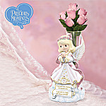 Precious Moments Angel Of Comfort Figurine And Crystal Vase: Sympathy Gift