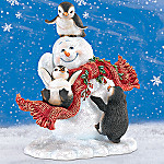 Dona Gelsinger Blizzard Buddies Collectible Penguin Friends And Snowman Figurine