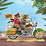 Charming Tails Riding High On Love Collectible Mouse Figurine: Biker Gift