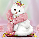 Breast Cancer Awareness Charity Cat Collectible Figurine: Purr For A Cure