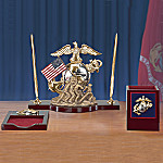 Forever Proud US Marine Corps Desk Set
