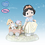Precious Moments Heigh Ho It's Off To Play We Go Collectible Disney Snow White Figurine