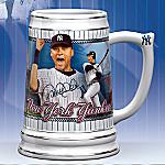 Derek Jeter Collectible New York Yankees Stein