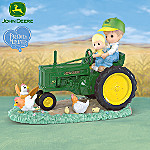 Like Father, Like Son Collectible Precious Moments And John Deere Figurine