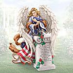 Angel Of Glory Veteran Memorial Tribute Figurine: Patriotic Bereavement Gift