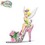 Disney Tinker Bell Rose Petal Pixie Collectible Shoe Figurine