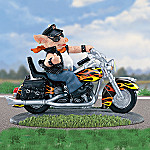 Hog Wild Motorcyle Figurine