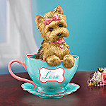 A Cup Of Love Yorkie Teacup Figurine