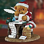 Making His List And Checking It Twice Teddy Bear Figurine
