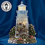 Thomas Kinkade The Sea Of Tranquility Lighthouse Figurine